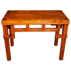 19th Century Chinese Faux Bamboo Kang Table