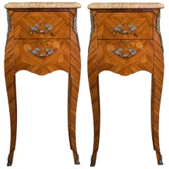 Pair of 1950s Louis XV Bedside Tables