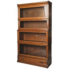 Early 20th Century English Oak Globe Wernicke Bookcase