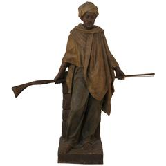 Large Terracotta Statue Signed by Friedrich Goldscheider, 1845-1897