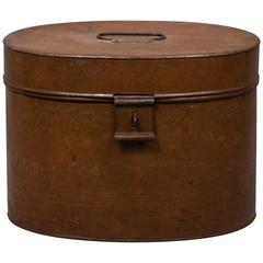 Late 19th Century English Tin Hat Box