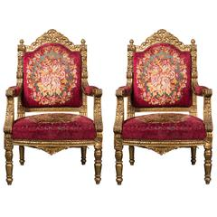 Late 19th Century Pair of Thrones