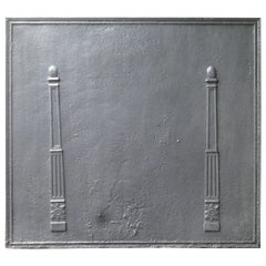 19th Century French Fireback with Pillars
