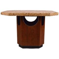 Octagonal Terrazzo Top Harvey Probber Style Table