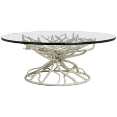 Late 20th Century Cast Iron Faux Coral Coffee Table