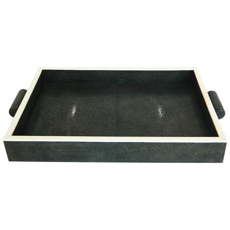 Authentic Shagreen and Bone inlay Tray