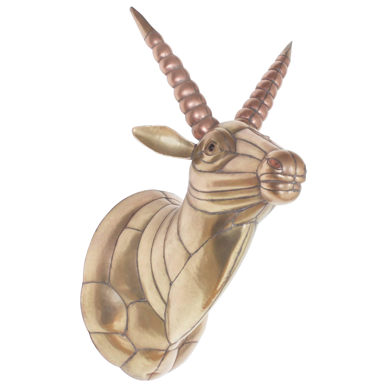 Sergio Bustamante Mid-Century Brass and Copper Gazelle