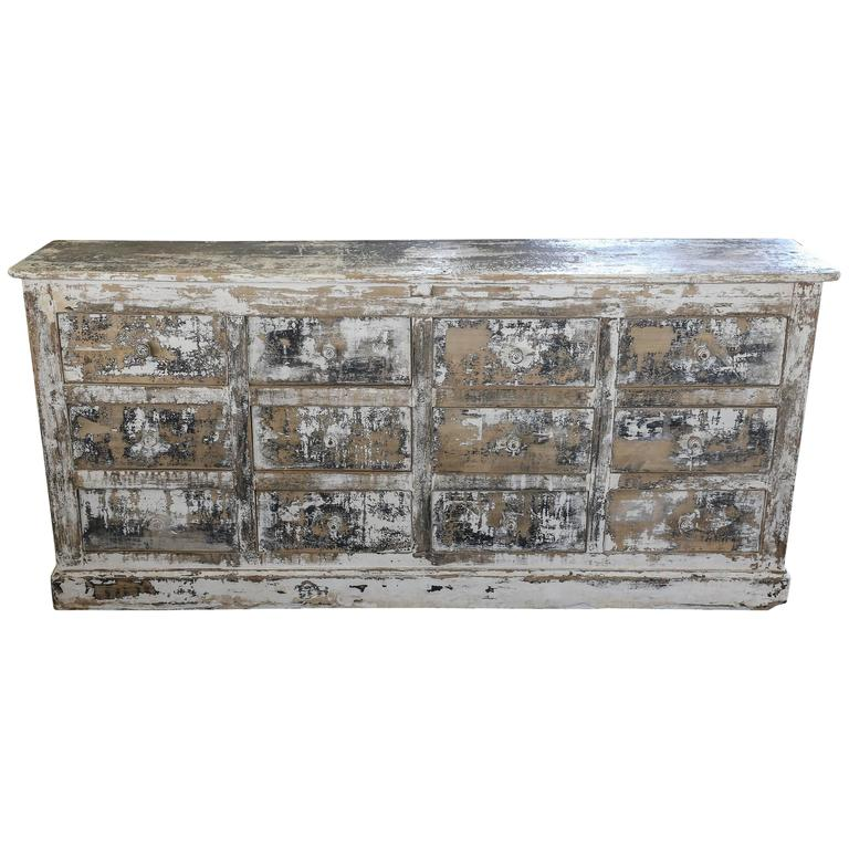 french circa 1900 12 drawer painted kitchen buffet kitchen buffet china cabinet sideboard hutch dining