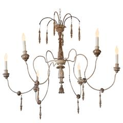 Italian Spider Chandelier with Six Arms