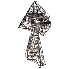 Ingenius Kinetic Wire Sculpture by Guy Pullen