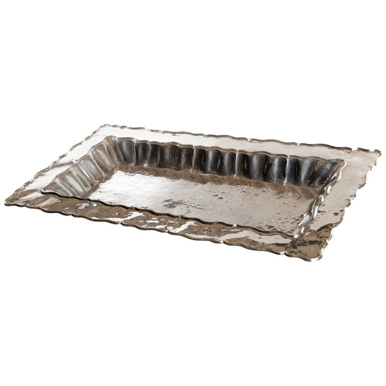 Sterling Silver Tray For Sale