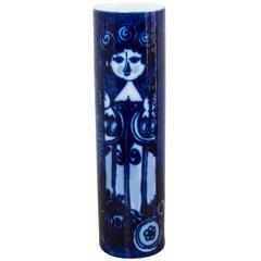 Elegant Cobalt Blue Bjorn Wiinblad Rosenthal Studio Line Vase