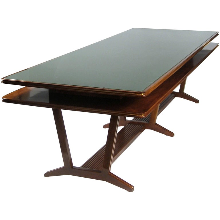 Two-Tier Library or Conference Table, Italy, Art Moderne, circa 1940 For Sale
