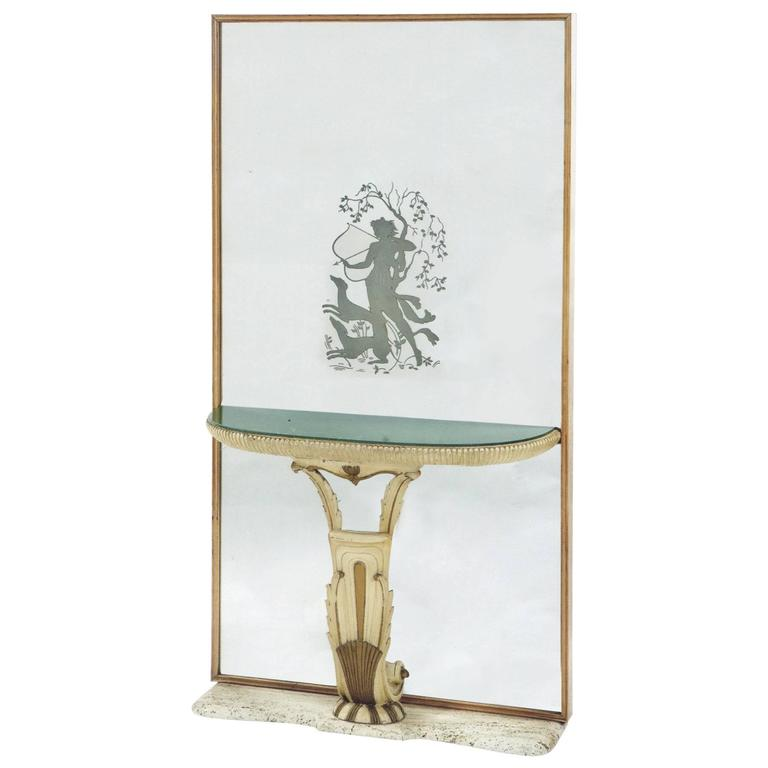 Mirrored Console by Fontana Arte Italy 'Milan,' 1930s