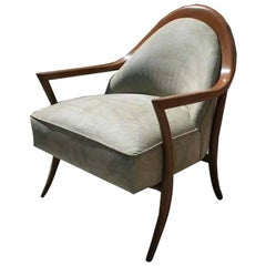 T.H. Robsjohn-Gibbings Solid Walnut Armchair