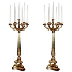 Chandelier Stanton Set of Two in Golded Polished Brass