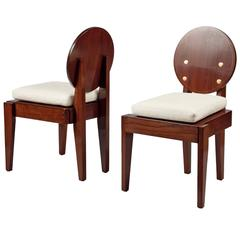 Pair of Chairs by André Sornay, France 'Lyon,' 1930s