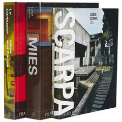 Masters of Architecture Book Collection Scarpa Mies Le Corbusier