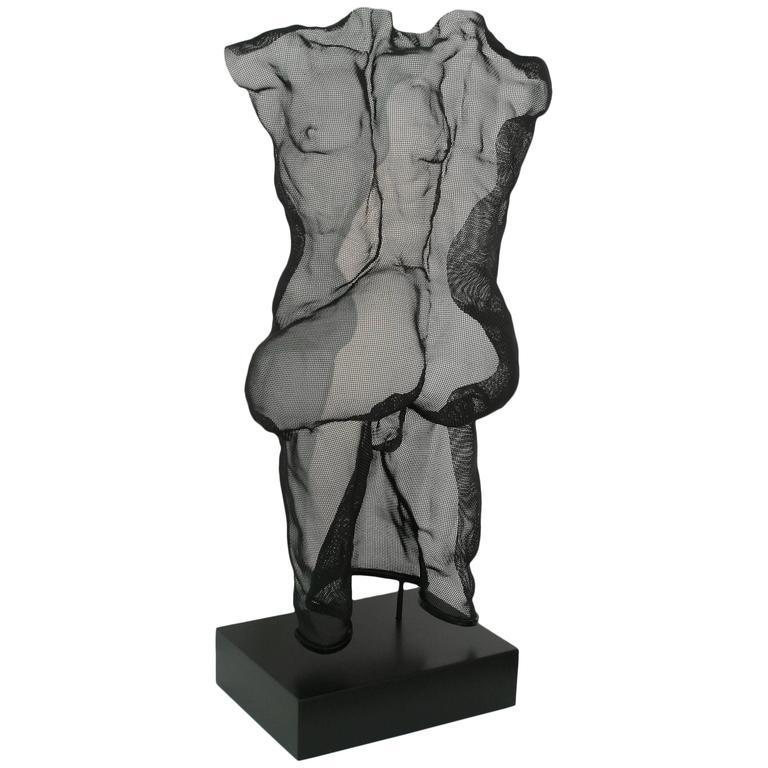 """""""Couple"""" Unique Steel Mesh Sculpture"""
