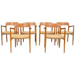 Dining Chairs Model 56 by Niels Otto Møller for J.L. Møller Møbelfabrik