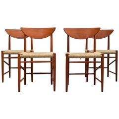 Dining Chairs by Peter Hvidt and Orla Mølgaard-Nielsen for Søborg Møbelfabrik