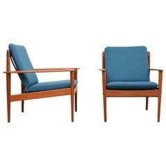 Mid-Century Grete Jalk Easy Chairs for P. Jeppesens Møbelfabrik, Denmark