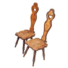 Pair of Art Nouveau Hall Chairs