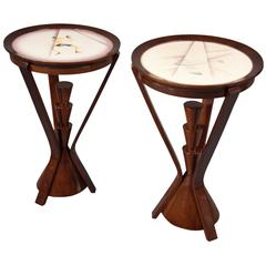 Pair of Side Tables by Angelo Simonetto, Galvani Editions, Italy, 1943