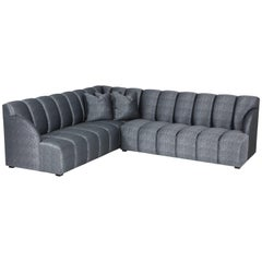 Steve Chase Channel Tufted Sectional Sofa