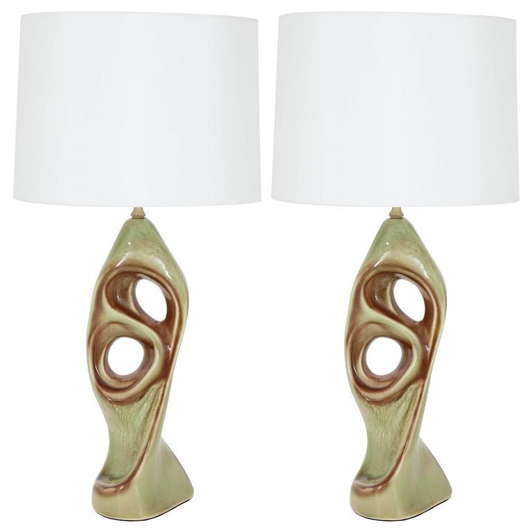 West German Ceramic Lamps, Style of Marianna von Allesch