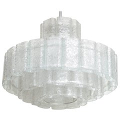 Doria Four-Tier Ice Glass Chandelier
