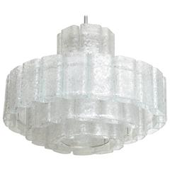 Doria Four-Tier Ice Glass Chandelier