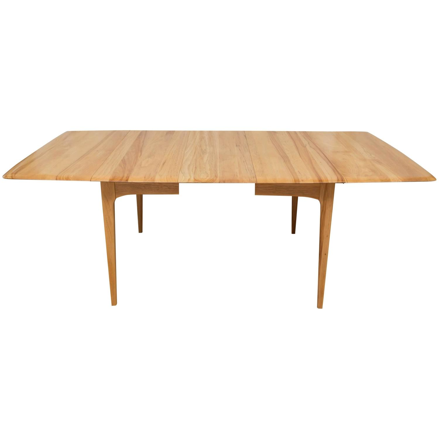 Hickory wood drop leaf dining table in the manner of for Drop leaf dining table