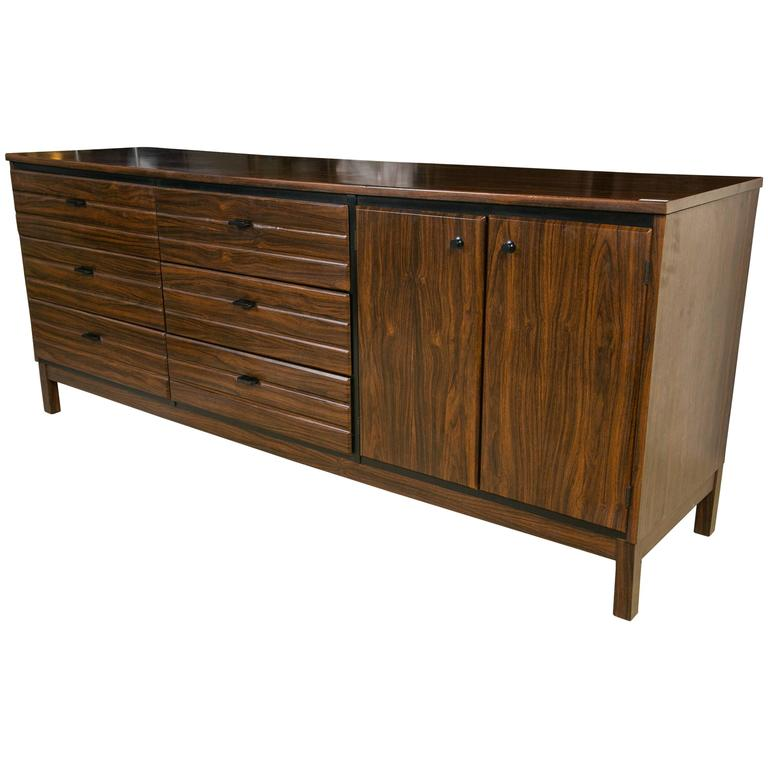 A Fine Custom Quality Mid Century Rosewood Dresser by American of Martinsville