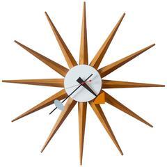 1950s George Nelson Sunburst Wall Clock