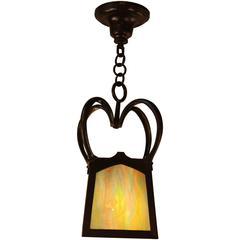 English Arts & Crafts / Art Nouveau Bronze Lantern