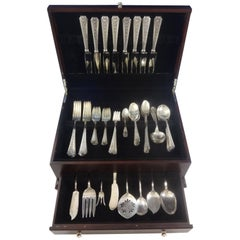 Talisman Rose by Frank Whiting Sterling Silver Flatware Service 8 Set 87 Pcs