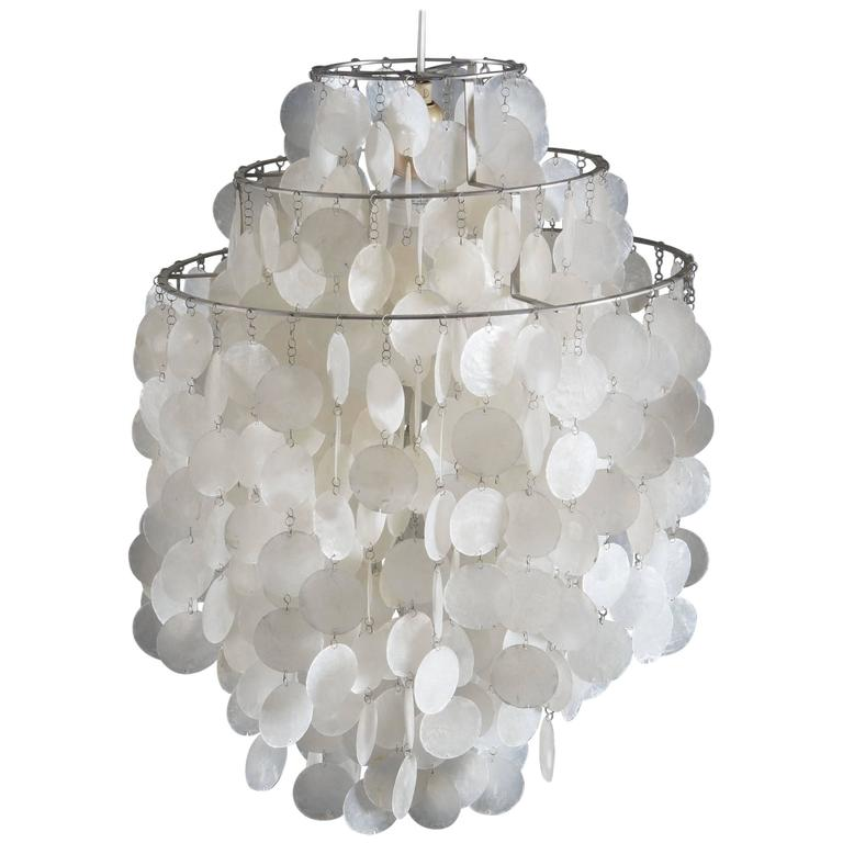 Verner Panton Fun 1 DM Capize Shell Chandelier For Sale