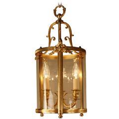 French Louis XVI Style Bronze Lantern