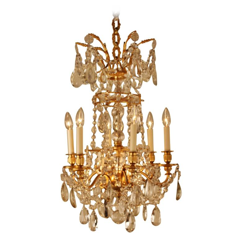 Crystal Chandelier Quality Types: High Quality Crystal And Bronze Chandelier By Baccarat At