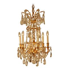 High Quality Crystal and Bronze Chandelier by Baccarat