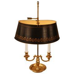 French Bronze Bouillotte Desk Lamp