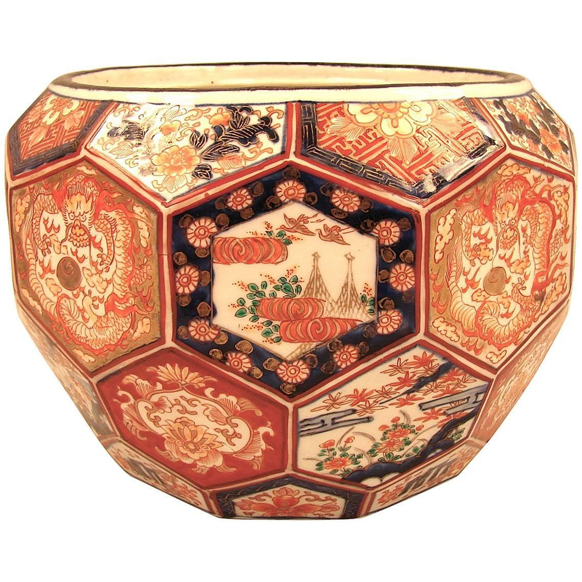 Unusual Meiji Period Faceted Planter For Sale At 1stdibs
