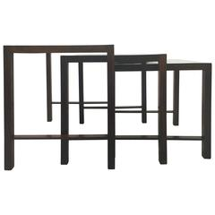 Modernist Rosewood and Laminate Nesting Tables, Brazil