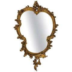 Gold Gilded Mantel or Console Mirror