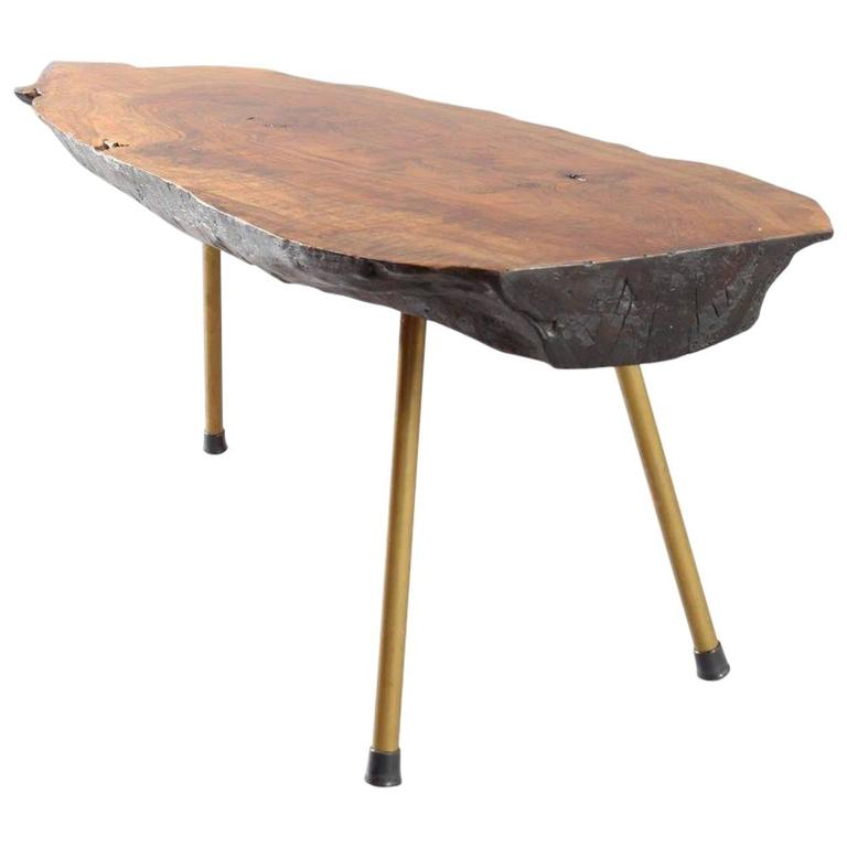 Huge Viennese Tree Trunk Table by Modernist Carl Auböck, Vienna, 1950 1