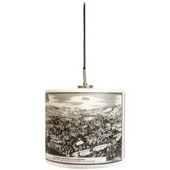 Pendant Light with Historical Pictures of Spa and Liège