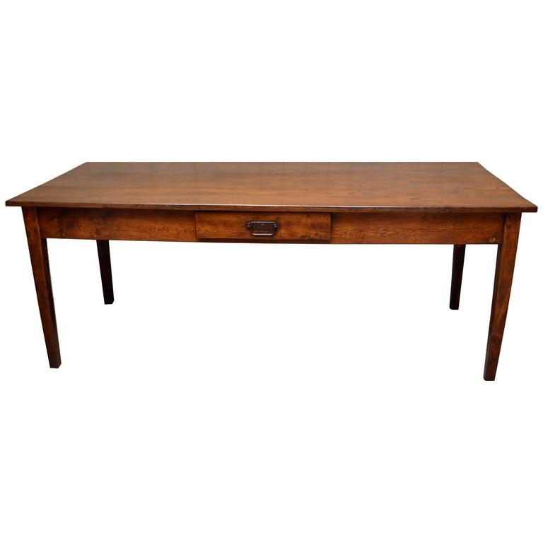 French Oak Farmhouse Table at 1stdibs