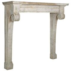 Console in White Marble, Louis XVI Period