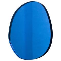 Seeing Glass Off Round Mirror, Small, Blue